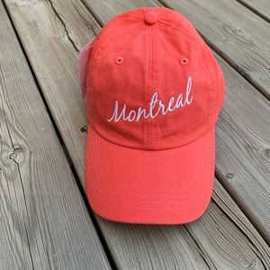 NWT Coral Embroidered Montreal Hat size s/m